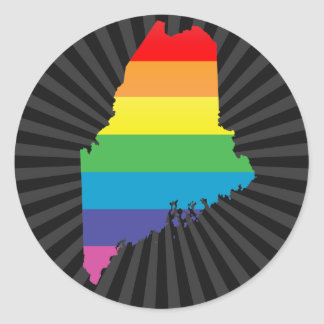 maine pride. classic round sticker