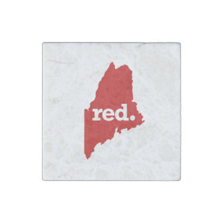 MAINE RED STATE STONE MAGNET