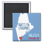 Maine Save the Date - Customizable City Refrigerator Magnets