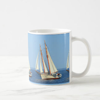 Maine schooners sailing coffee mug