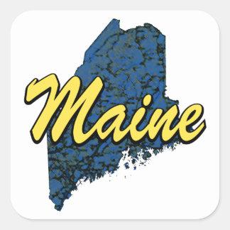Maine Square Sticker