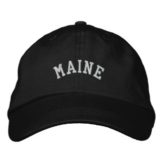 Maine State Embroidered Embroidered Hat