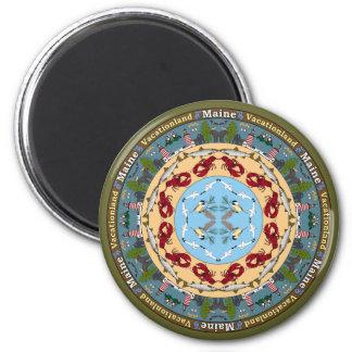 Maine State Mandala Magnet Magnets