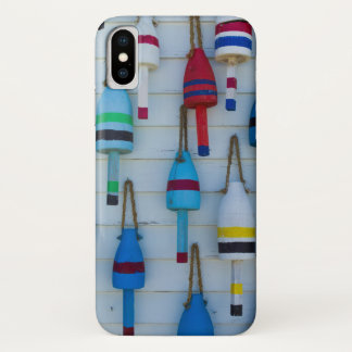 Maine, Stonington, decorative lobster buoys iPhone X Case