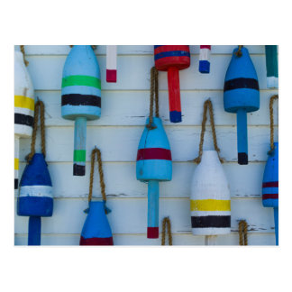 Maine, Stonington, decorative lobster buoys Postcard