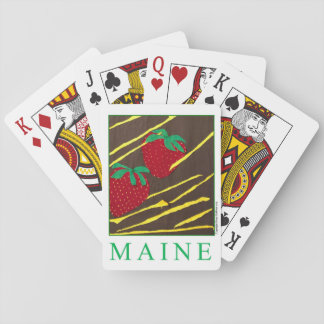 """MAINE"" Strawberries Deck of Playing Cards"
