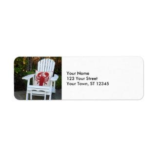 Maine Summer Return Address Label