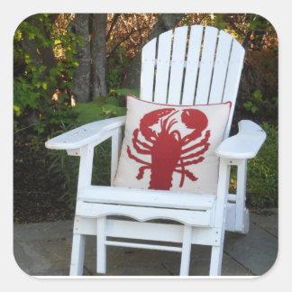 Maine Summer Square Sticker