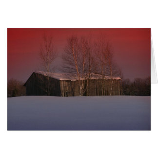 Maine Sunset 7 Card
