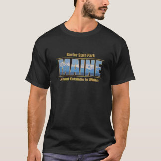 MAINE Text Image - Mount Katahdin T-Shirt