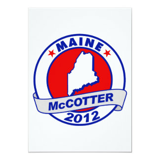 "Maine Thad McCotter 5"" X 7"" Invitation Card"