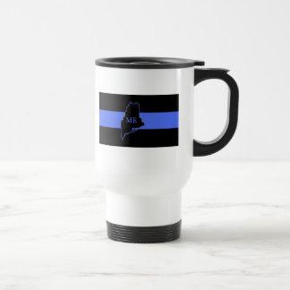 Maine Thin Blue Line travel mug