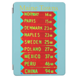 Maine Towns Sign Thunder_Cove iPad Air Cover