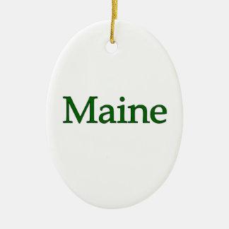 Maine USA Logo Ornaments