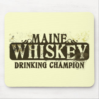 Maine Whiskey Drinking Champion Mouse Mats