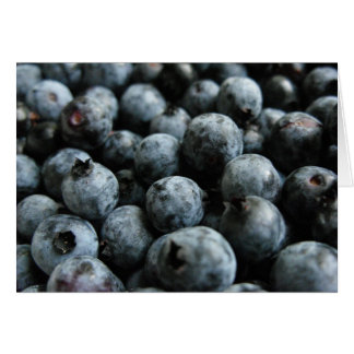 Maine wild blueberries notecard