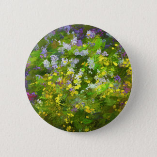 Maine Wildflowers 6 Cm Round Badge