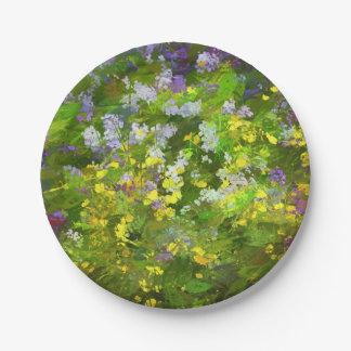 Maine Wildflowers Paper Plate