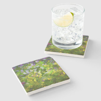 Maine Wildflowers Stone Coaster