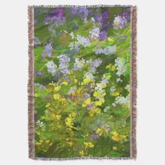 Maine Wildflowers Throw Blanket