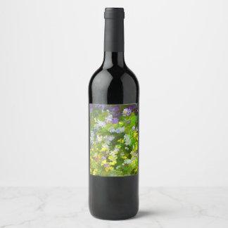 Maine Wildflowers Wine Label