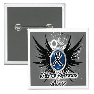 Maine Xtreme Cheer Button Square