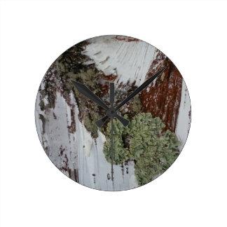 Mainely Birch Round Clock