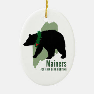 Mainers for Fair Bear Hunting Holiday Ornament