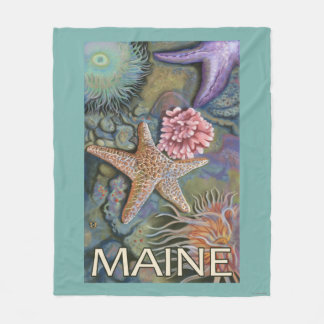 MaineTidepool Scene Fleece Blanket