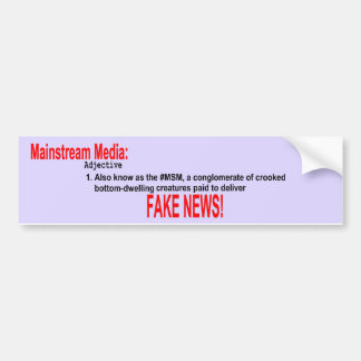 Mainstream Media Adjective Bumper Sticker