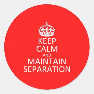 Maintain Separation Sticker