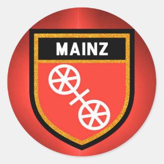 Mainz Flag Classic Round Sticker