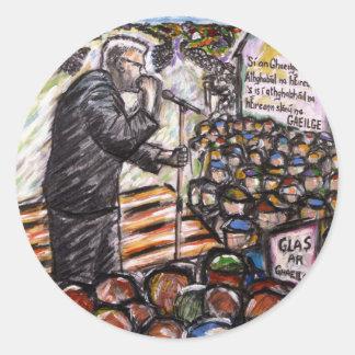 mairtin o cadhain classic round sticker