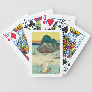 Maisaka, Japan: Vintage Woodblock Print Bicycle Playing Cards