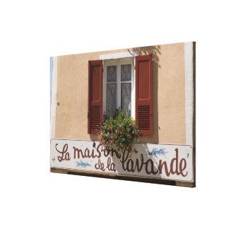 Maison de la Lavande, Place du Couwert, Stretched Canvas Prints