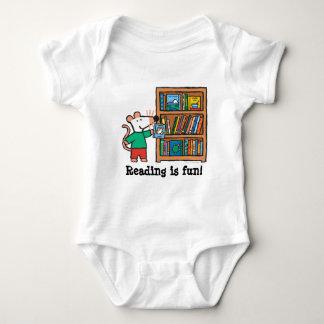 Maisy and a Bookshelf of Books Baby Bodysuit