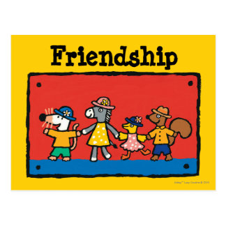 Maisy and Best Friends Hold Hands Postcard