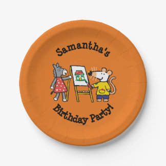 Maisy and Dotty Paint at Preschool 7 Inch Paper Plate