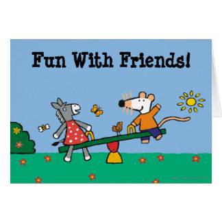 Maisy and Dotty Seesaw at the Playground Card