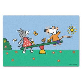 Maisy and Dotty Seesaw at the Playground Tissue Paper