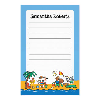Maisy and Friends at the Beach Stationery