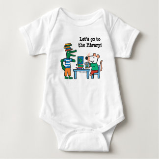 Maisy and Friends Enjoy the Library Baby Bodysuit