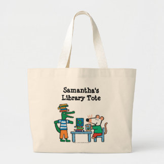 Maisy and Friends Enjoy the Library Large Tote Bag