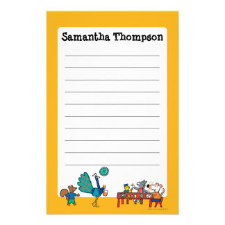 Maisy and Friends Preschool Snack Time Personalised Stationery