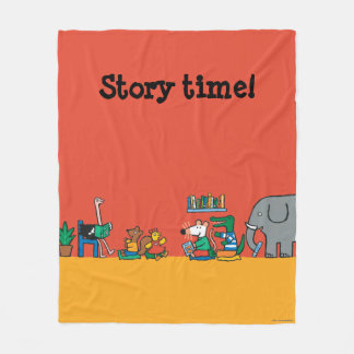 Maisy and Friends Read Together Fleece Blanket