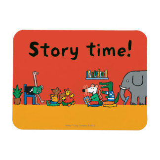 Maisy and Friends Read Together Rectangular Photo Magnet