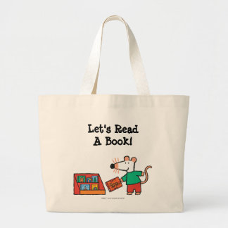 Maisy with Library Books Large Tote Bag
