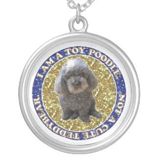 Maitai the Poodle Necklaces. Round Pendant Necklace