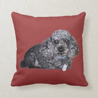 Maitai the Poodle Throw Pillow