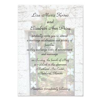 Maitland Art Center Commitment Ceremony 13 Cm X 18 Cm Invitation Card
